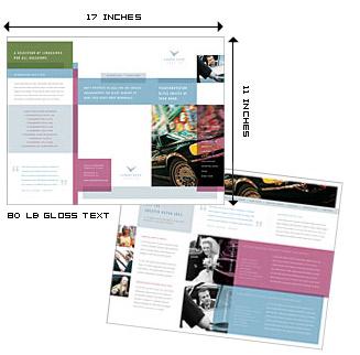 printing 11x17 brochures color brochures